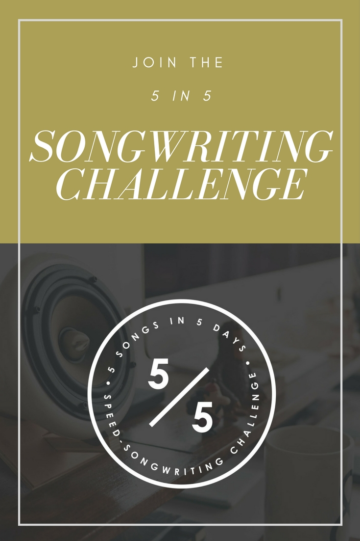 Join the 5 in 5 Song Challenge and write 5 songs in 5 days with a group of SongFancy writers! Oh, did I mention you could win a feature on SongFancy.com? And that's all free? DO THIS. | Presented by SongFancy.com
