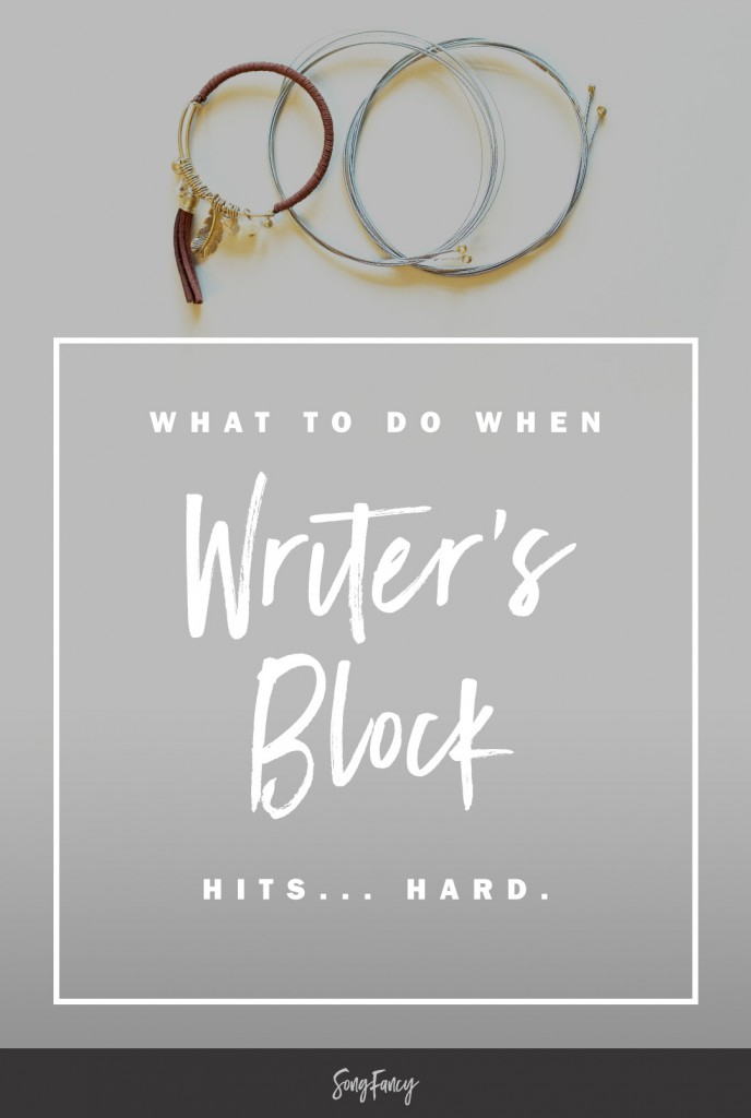Writer's block sucks. Here's what you can do to move past it. | SongFancy.com