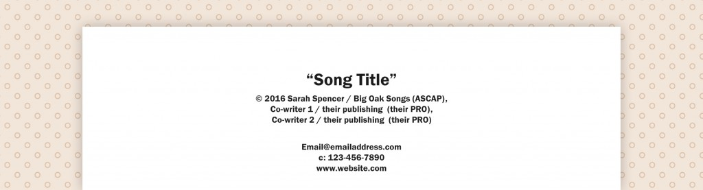 Format song title in essay