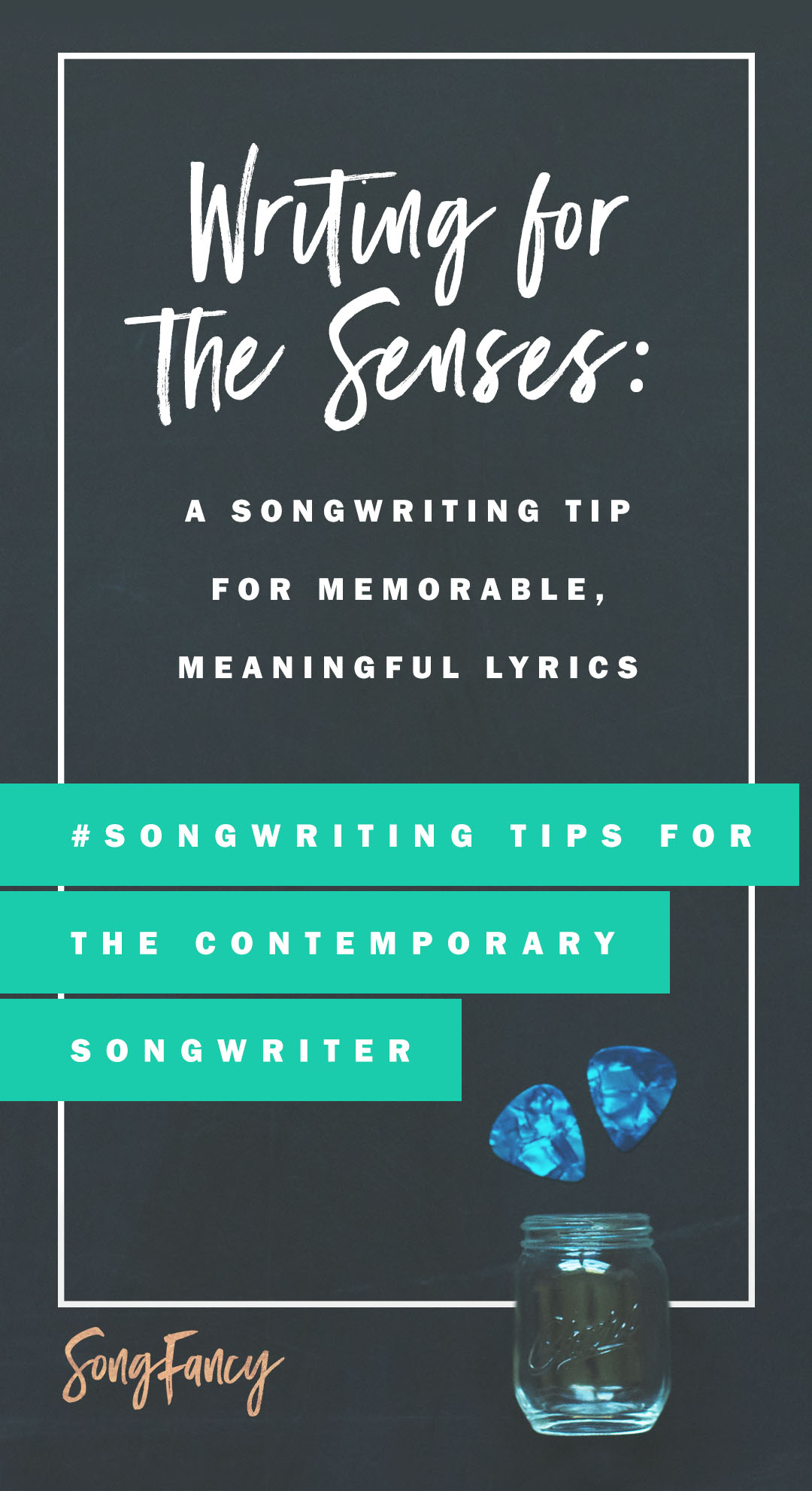 Songwriting tip! Here's how to write better, more meaningful lyrics using all five of our senses. Show, don't tell! | SongFancy.com