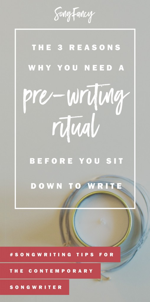 Want a great writing experience each time you sit down? Start by establishing your very own songwriting pre-writing ritual. Songwriting tips! | SongFancy.com