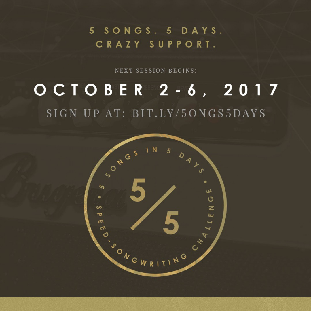 Join the 5-in-5 Song Challenge and write 5 songs in 5 days! Writer's block doesn't stand a chance. | SongFancy