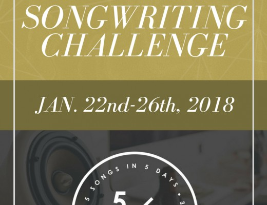 Join the Free 5 in 5 Song Challenge today and write 5 songs, kick your inner critic to the curb, and win prizes! January 22-26, sign up inside: