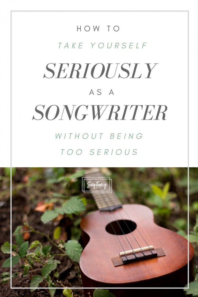 Here's how to fight the constant perfectionism, love your songs again, and see yourself as a serious songwriter (without being too serious all the time). | SongFancy.com | Songwriting tips and inspiration for the contemporary songwriter.