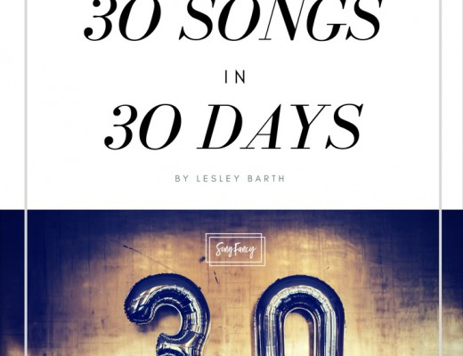 Want to get majorly ahead in your songwriting? Try penning 30 songs in 30 days. Artist/songwriter Lesley Barth tells you how it rocked her world and how it will rock yours, too. | SongFancy songwriting tips and inspiration for the contemporary lady songwriter.
