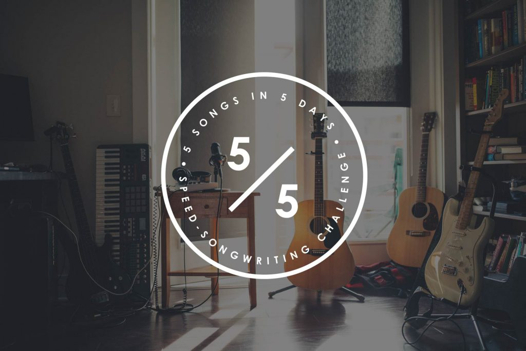 Join the 5 in 5 Song Challenge and write 5 songs in 5 days with a group of kickass SongFancy songwriters!