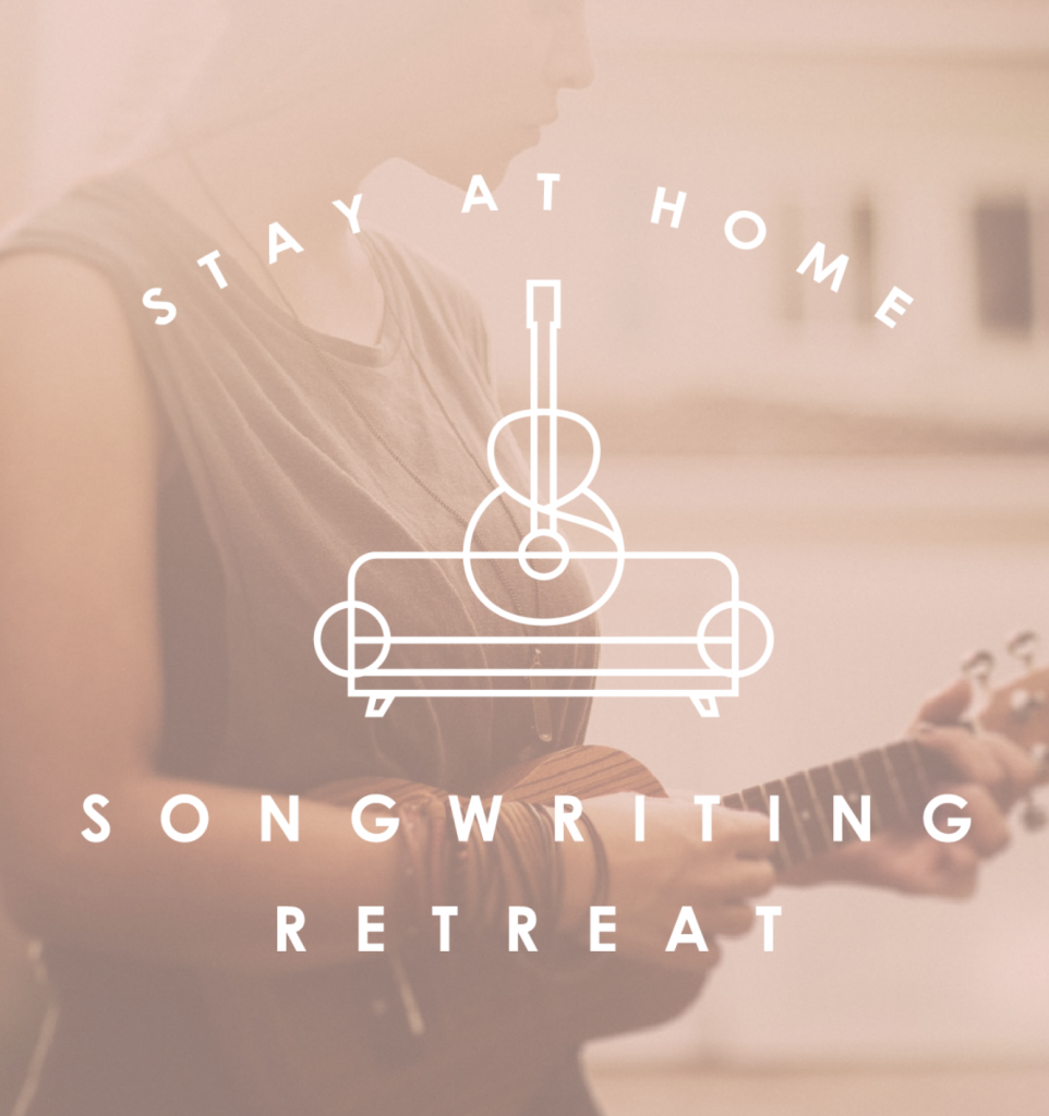 "Just launched our Stay At Home Songwriting Retreat video series! Perfect for those who scribble lyrics into notebooks, but secretly dream of sharing them one day. Learn how to own the title ""songwriter"" rather that just saying, ""I write a little bit sometimes!"" (oh, and it's tots free!)"