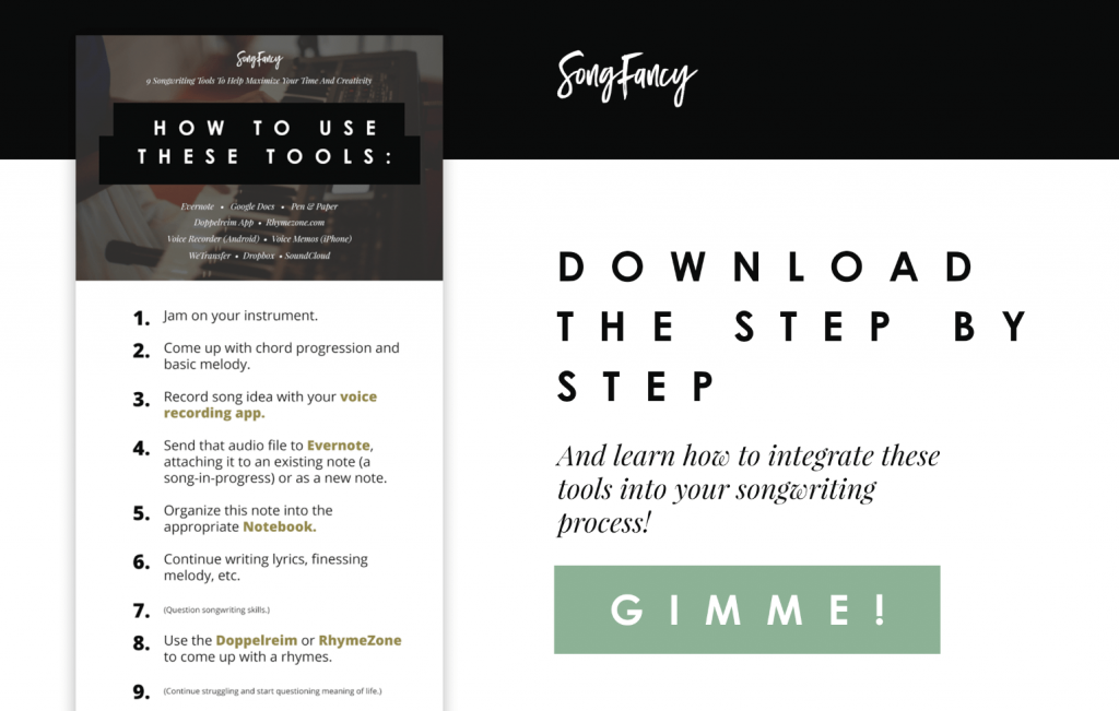 Download the step by step and learn how to use these tools in your songwriting process!