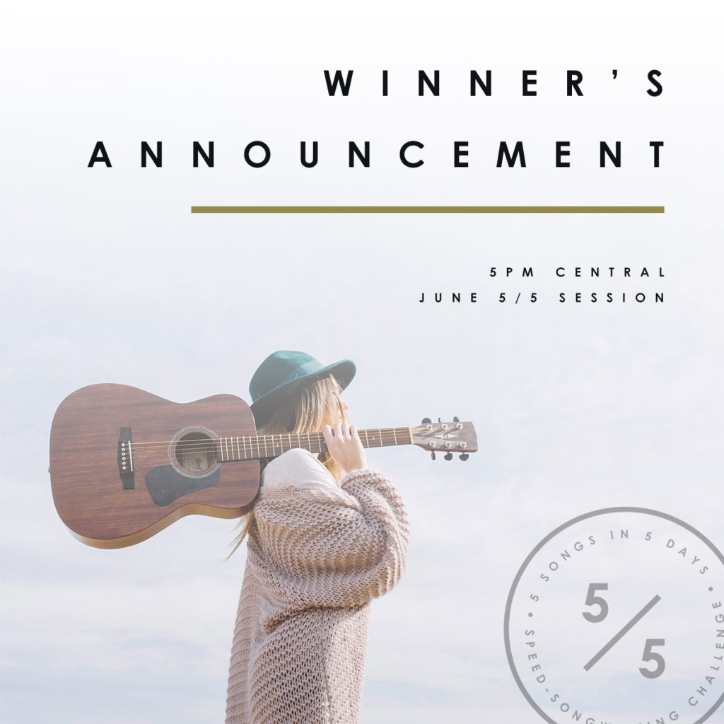 See the winner from June 2018's 5 in 5 Song Challenge! | Songfancy.com, songwriting tips and inspiration for the contemporary lady singer/songwriter