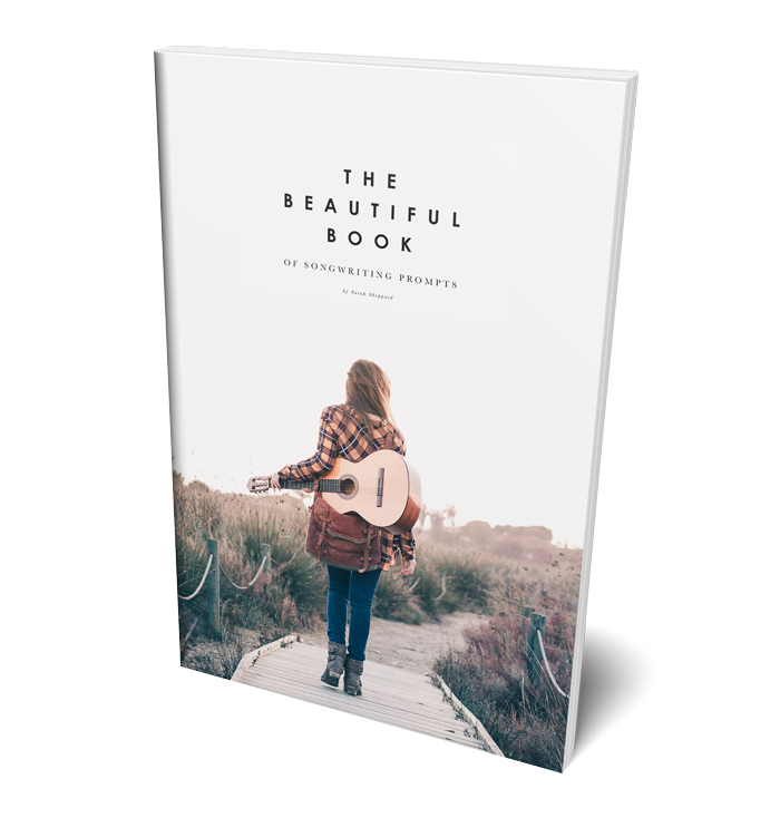The Beautiful Book of Songwritring Prompts, on sale for Black Friday