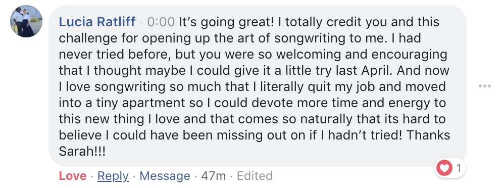 What real songwriters have to say about joining the 5 in 5 song challenge on SongFancy, songwriting tips and inspiration for the contemporary lady singer songwriter