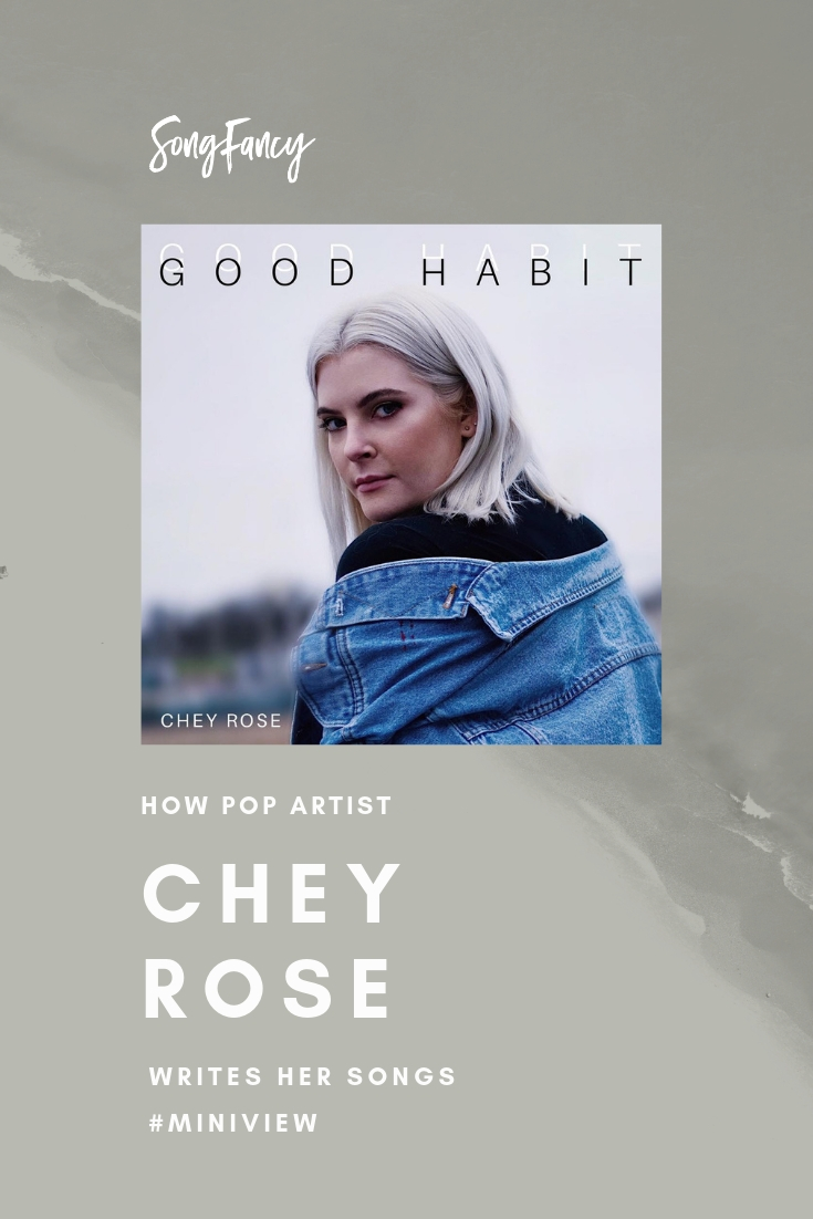 How Pop Artist Chey Rose Writes her Songs, Miniview – For Singer_Songwriters | SongFancy, songwriting tips and inspiration for the contemporary lady singer songwriter