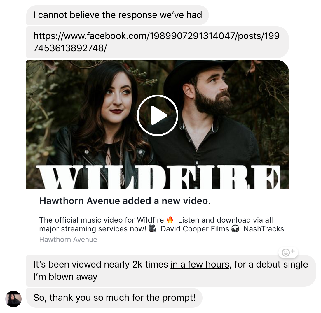 Wildfire's debut single was written based off of a prompt from the 5 in 5 Song Challenge. They're killing it!
