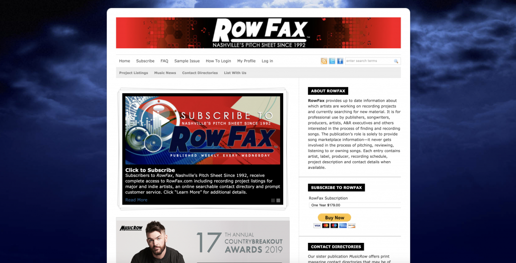 Rowfax.com | SongFancy