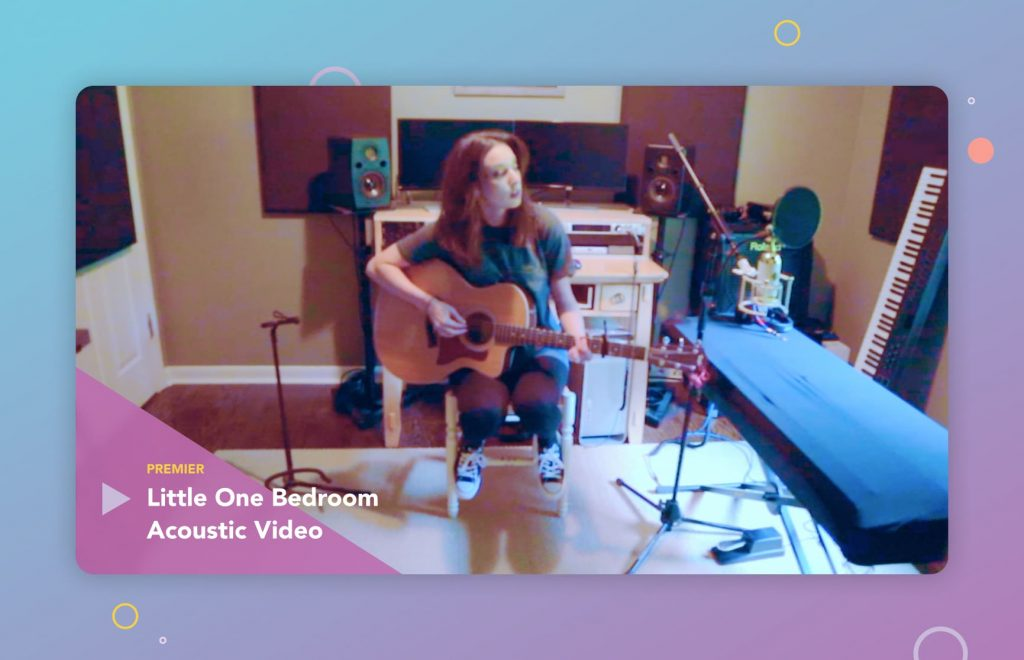 Premiering a special acoustic video for Little One Bedroom. Sarah Spencer, at Re:Think Song Fest.