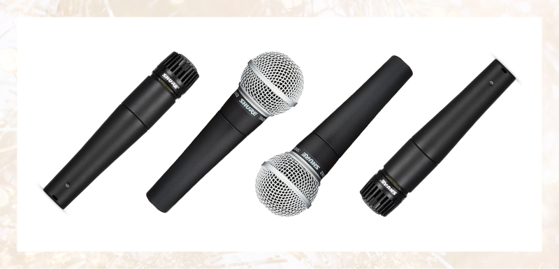 Shure's SM57 and SM58 mics