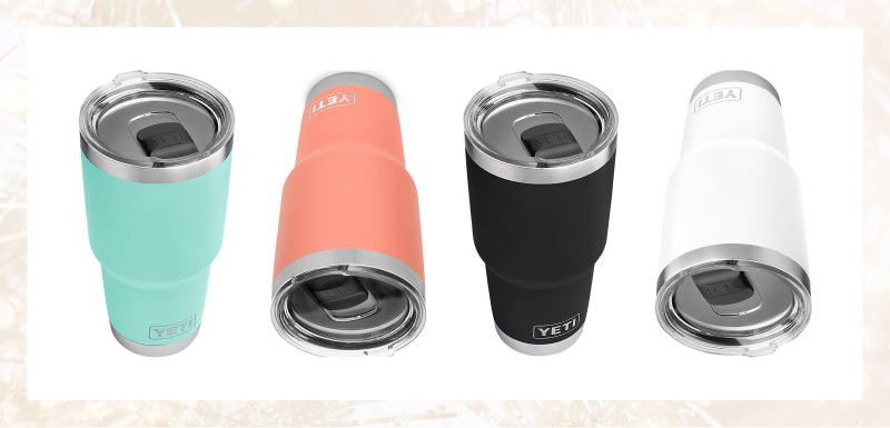 Yet's 30oz tumbler with a lid is a wonderful home recording studio companion