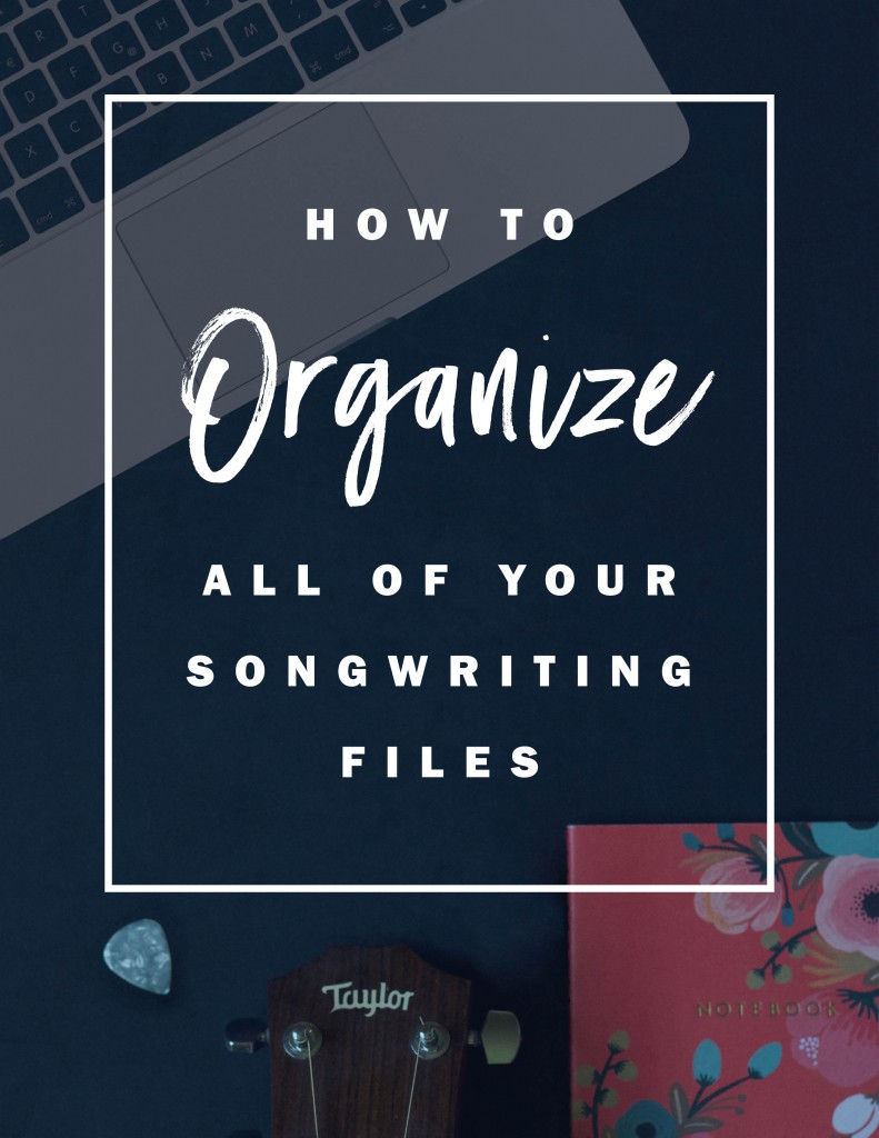 organization tips for songwriters | getting your folders all set up