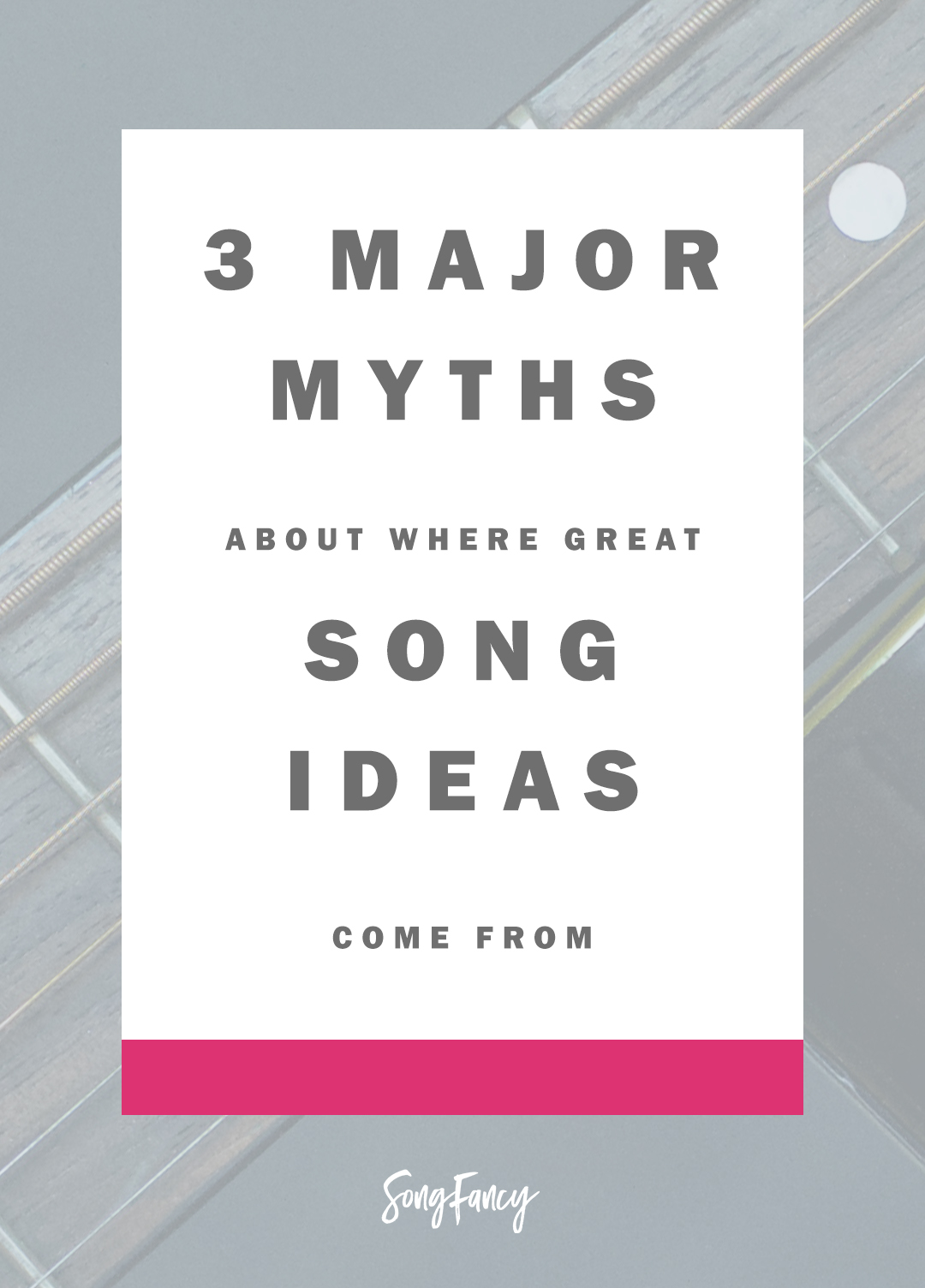 All creatives get duped into believeing one thing: that we are hopelessly dependent on the whim of the muse. Here's what you can do to break the spell: | Songwriting tips at SongFancy.com