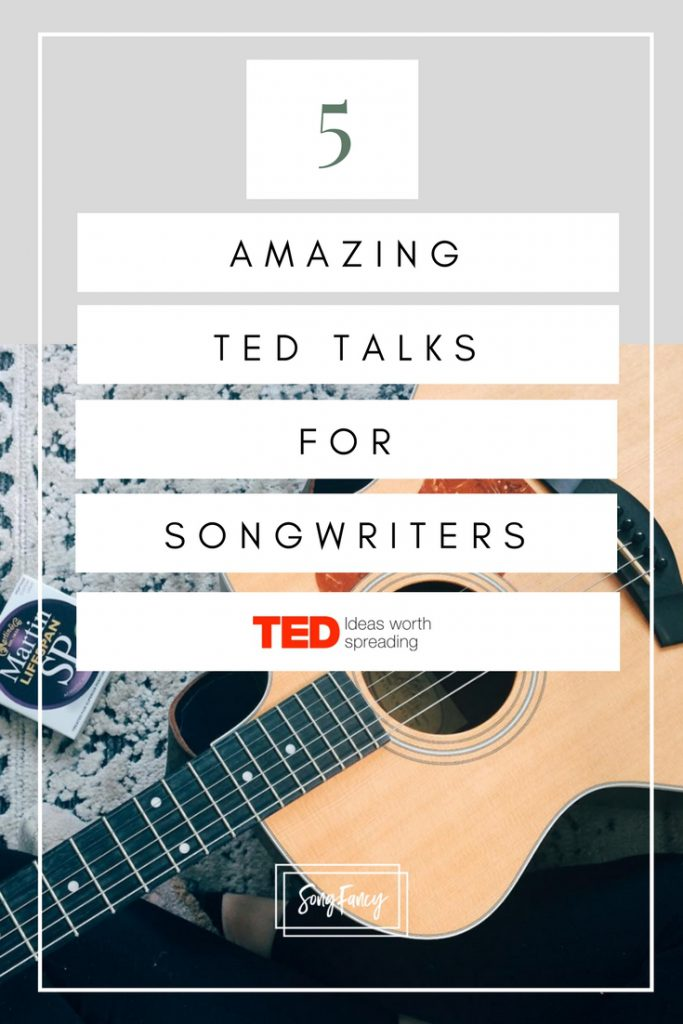 Get inspired with my favorite songwriter TED talks for songwriters! | SongFancy.com