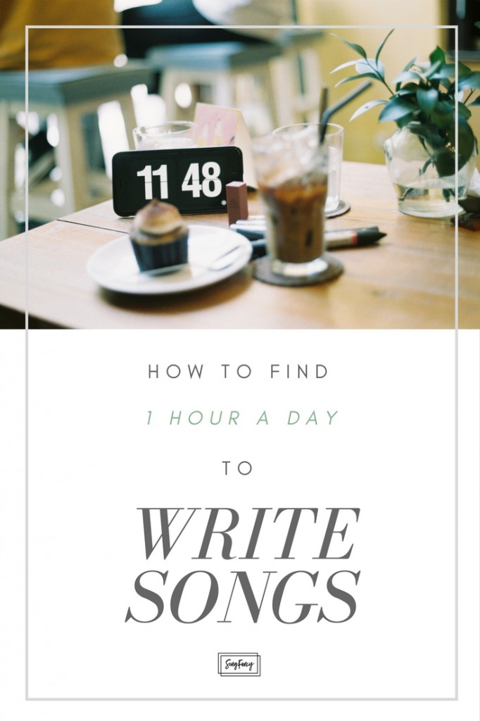 "Don't let ""lack of time"" keep you from writing. Here's how to dig up 1 hour per day to write songs! 